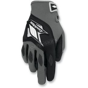 Slippery Black/Gray Circuit Gloves - 32600285