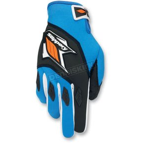 Slippery Blue/Orange Circuit Gloves - 32600297