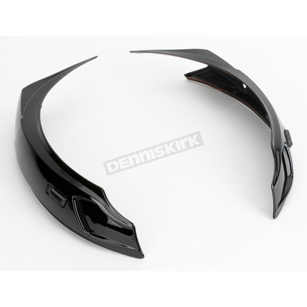 Icon Black Super Vent Set for Icon Alliance and Mainframe Helmets - 0133-0211