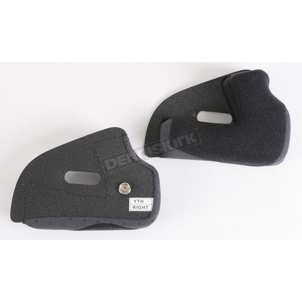 AFX Black/Gray Cheek Pads for AFX Youth Helmets - 0134-0414
