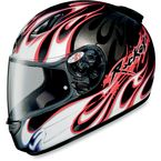 Black/Red/White RKT-Prime Rampage Helmet - 123-916