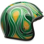 Mean Green Custom 500 Chemical Candy Helmet - 7057139