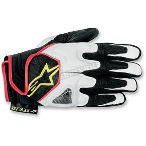 Alpinestars Black/White/Yellow Scheme Kevlar Gloves - 3502612-125-L