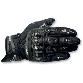 Alpinestars Black SP-X Leather Gloves - 3567912-10-L
