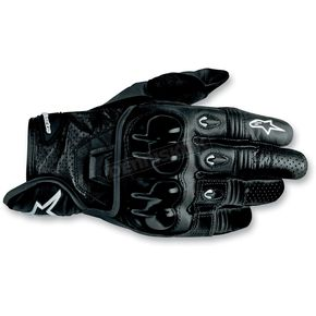 Alpinestars Black 2012 Octane S-Moto Leather Gloves - 3567012-10-L