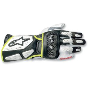 Alpinestars White/Black/Yellow 2012 SP-2 Gloves - 3558212125S