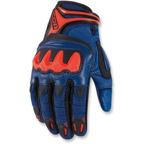 Icon Blue Overlord Resistance Gloves - 3301-2023