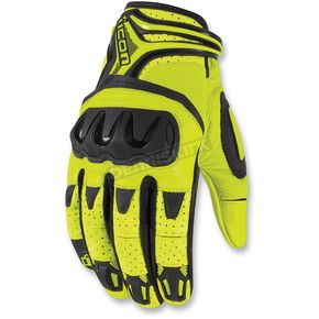 Icon Hi-Viz Yellow OverlordResistance Gloves - 3301-2037