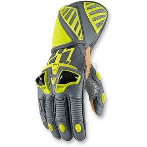 Icon Hi Viz Hypersport Long Gloves - 3301-2355