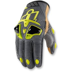 Icon Hi Viz Hypersport Short Gloves - 3301-2381