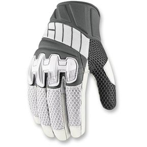 Icon White Overlord Mesh Gloves - 3301-2412