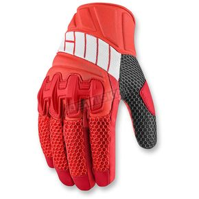 Icon Red Overlord Mesh Gloves - 3301-2424