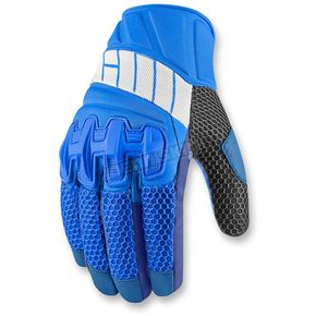 Icon Blue Overlord Mesh Gloves - 3301-2427