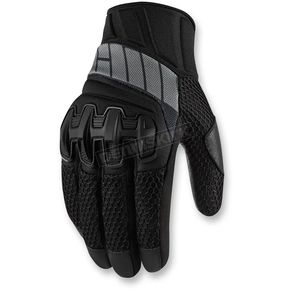 Icon Womens Stealth Overlord Mesh Gloves - 3302-0404