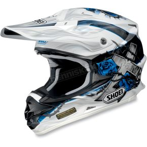 Shoei Helmets White/Black/Blue VFX-W Grant Helmet - 0145-7302-06