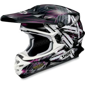 Shoei Helmets Black/White/Purple VFX-W Crosshair Helmet - 0145-7510-08