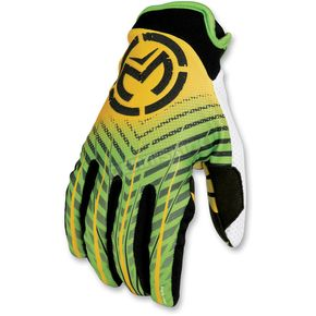 Moose Green/Yellow Sahara Gloves - 33302752