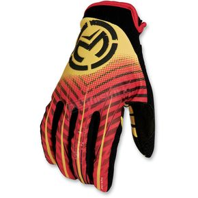 Moose Red/Yellow Sahara Youth Gloves - 33320816