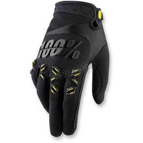 100% Black Airmatic Gloves - 10004-001-12