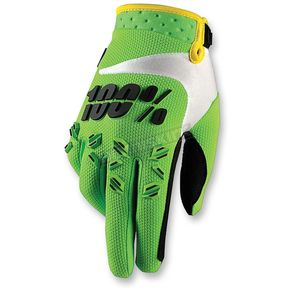 100% Green Airmatic Gloves - 10004-077-12
