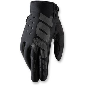 100% Black Brisker Gloves - 10006-001-14