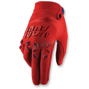 100% Youth Red Airmatic Gloves - 10004-003-05