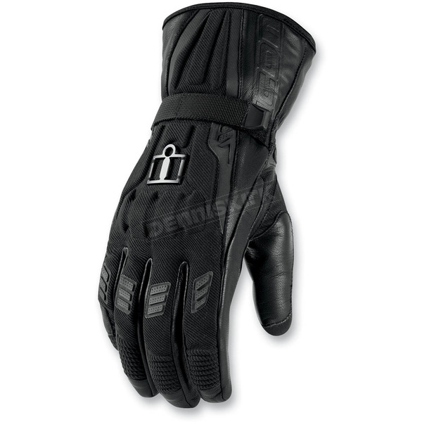 Icon Black Device Touchscreen Long Gloves - 3301-1809