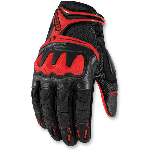 Icon Red Overlord Resistance Gloves - 3301-2032
