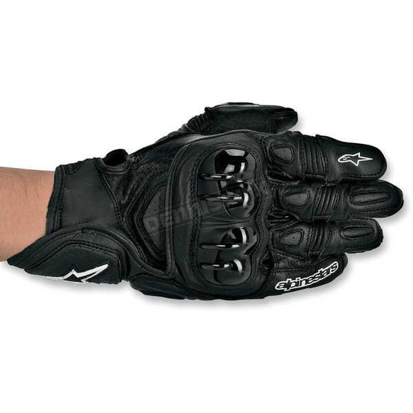Alpinestars Black GPX Leather Gloves - 3567013-10-S