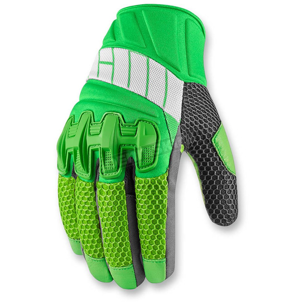 Icon Green Overlord Mesh Gloves - 3301-2419