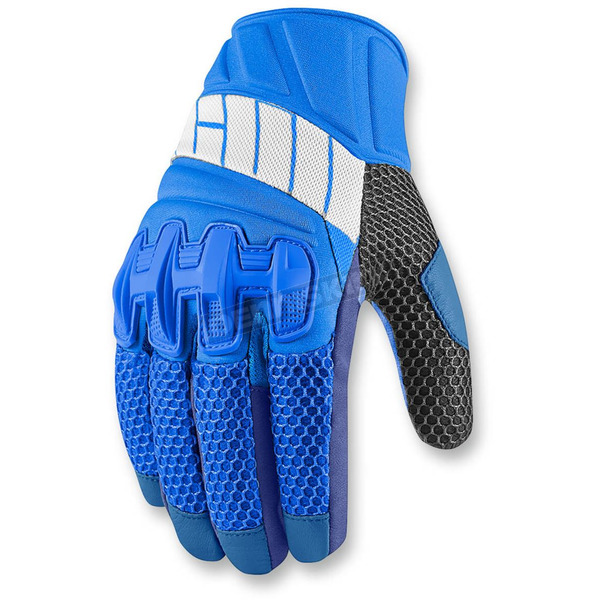 Icon Blue Overlord Mesh Gloves - 3301-2430