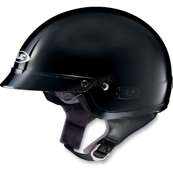 HJC IS-2 Black Half Helmet - 58-109