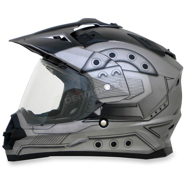 AFX Frost Gray FX-39DS Hero Helmet - 0110-4164