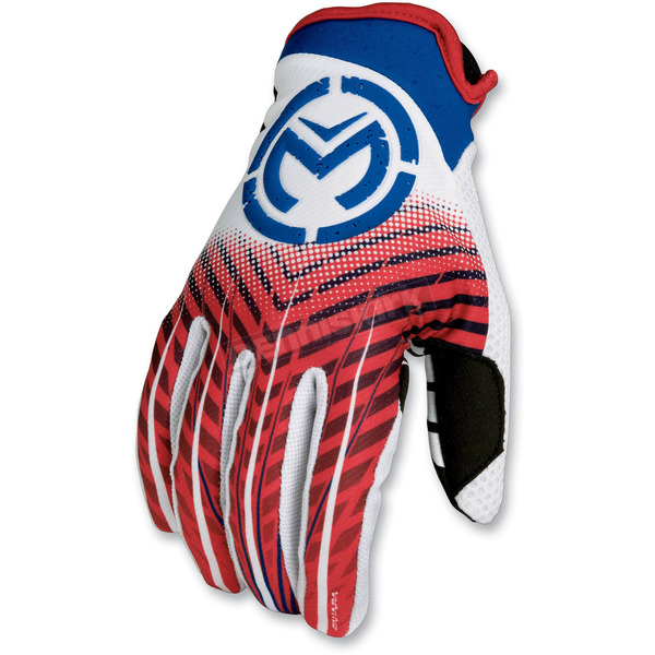 Moose Red/White/Blue Sahara Gloves - 33302773