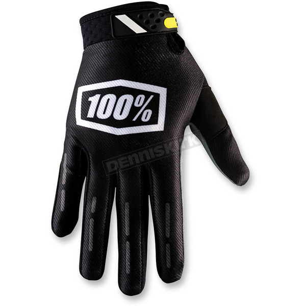 100% Black Ridefit Corpo Gloves - 10001-001-14