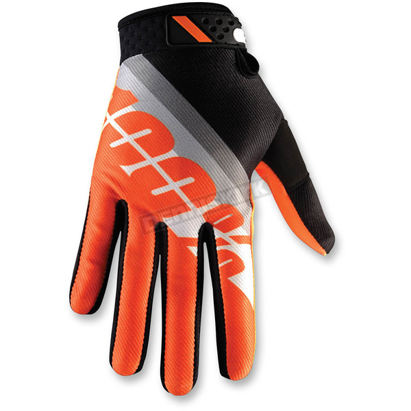 100% Orange Ridefit Slant Gloves - 10001-081-10