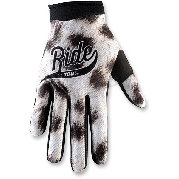 100% White/Black I-Track Ride Gloves - 10002-038-10
