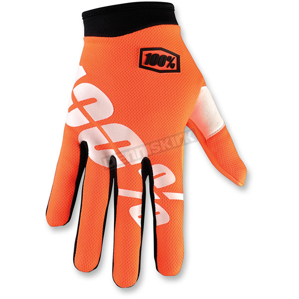 100% Orange/Black I-Track Cal Trans Gloves - 10002-054-14