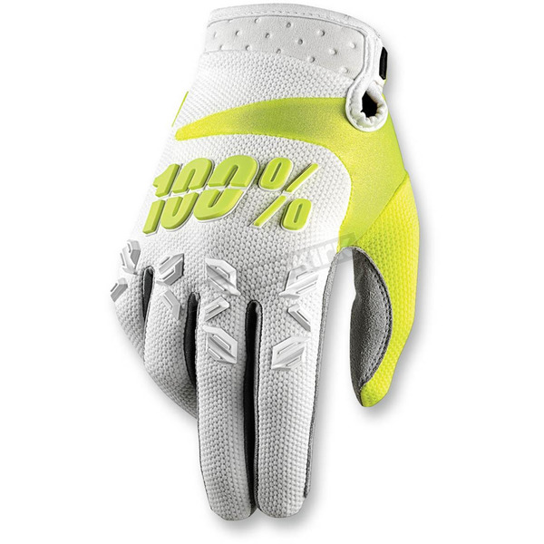 100% White Airmatic Gloves - 10004-000-13