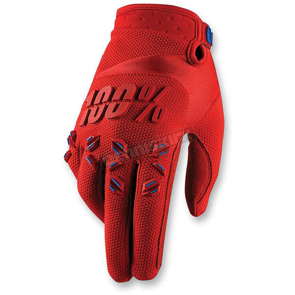 100% Red Airmatic Gloves - 10004-003-11
