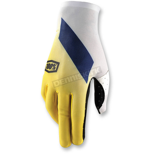 100% Yellow Celuim Slant Gloves - 10005-004-10