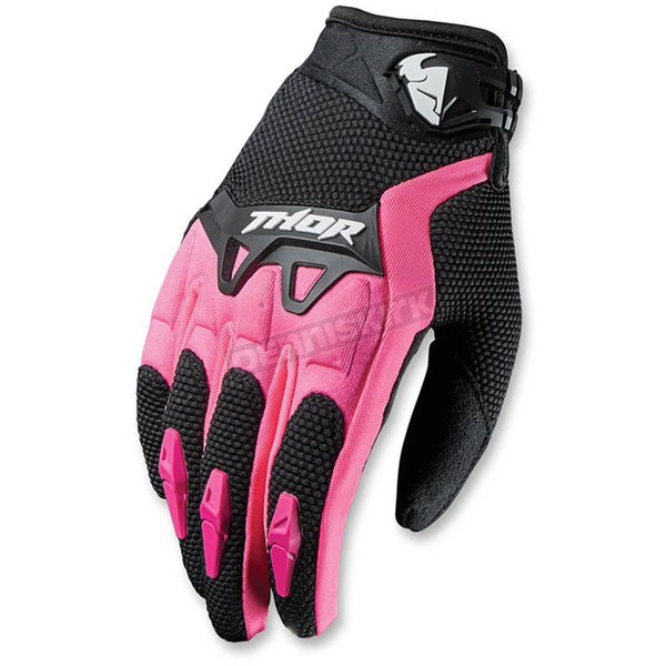 Thor Womens Black/Pink Spectrum Gloves - 3331-0130