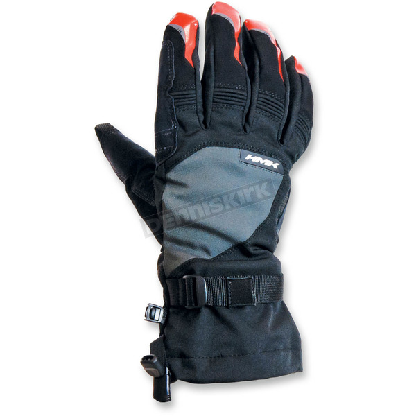HMK Gray/Orange Union Long Gloves - HM7GUNILGOS