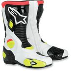 White/Black/Yellow  S-MX 5 Boots - 2223092-15-46