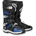 Black/Blue Chrome Tech 3 Boots - 201307-179-14