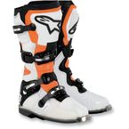 White/Black/Orange Vented Tech 8 Light Boots - 2011011-241-14