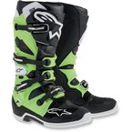 Black/Green Tech 7 Boots - 2012014167