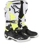 Black/White/Yellow Tech 10 D71 Boots - 2010014-215-10
