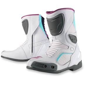 Icon Womens White Overlord Boots - 3403-0665