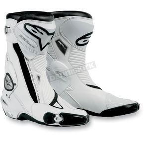 Alpinestars White S-MX Plus Boots - 2221011-20-37